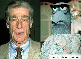 Richard Mulligan and Sam the Eagle (Muppet)
