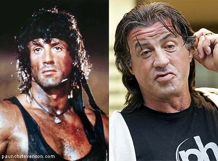 image of sylvester stallone now and then