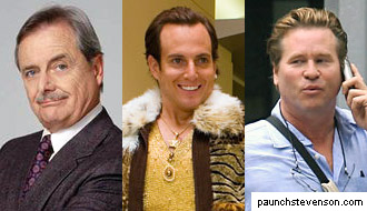 William Daniels, Will Arnett, and Val Kilmer