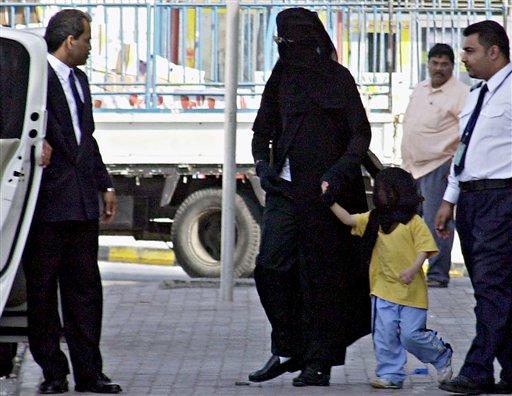 Michael Jackson in Burka at Bahrain Airport