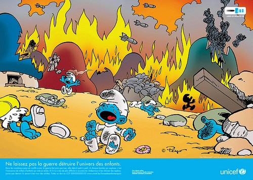 Smurfs UNICEF ad