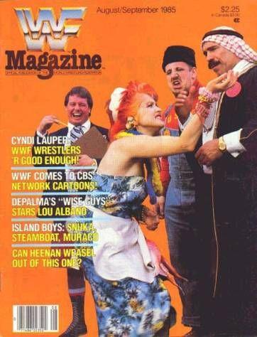 Cyndi Lauper WWF Magazine