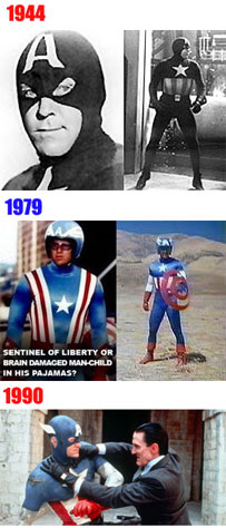 Comparison of Captain America on TV