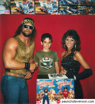 Rob with Macho Man Randy Savage in Belleville, NJ, 1986