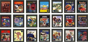 Faux Atari 2600 Labels of Mattel's M Network games