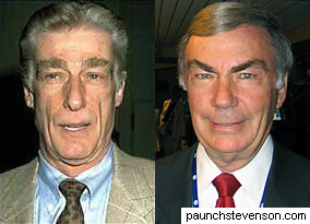 Richard Mulligan and Sam Donaldson: separated at birth?
