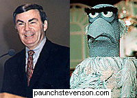 Sam Donaldson and Sam the Eagle