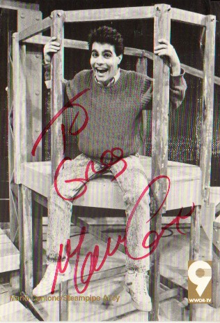 Signed Postcard from Mario Cantone, Steampipe Alley, 1989