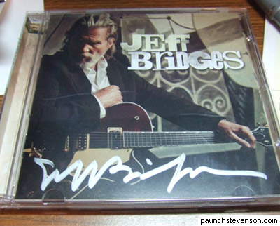 Jeff Bridges Signed CD