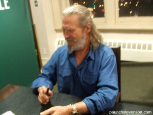 Jeff Bridges Signing NYC 1-8-13